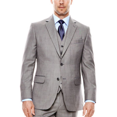 jcpenney.com | Stafford® Travel Gray Sharkskin Suit Jacket - Classic Fit