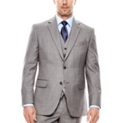 Stafford® Travel Gray Sharkskin Suit Jacket - Slim Fit