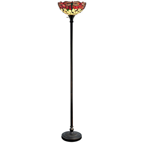 Dale Tiffany™ Dragonfly Torchiere Floor Lamp