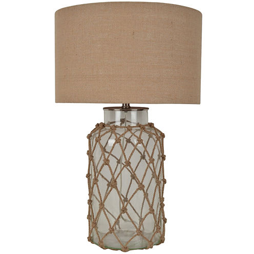 Rope Glass Table Lamp - JCPenney