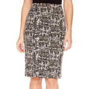Liz Claiborne® Slim Textured Ponte Skirt - Tall