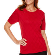 Alfred Dunner® Short-Sleeve Classic Sweater Shell