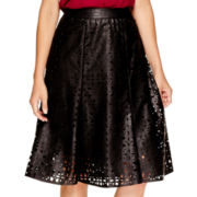 Worthington® Gored Faux-Leather Skirt