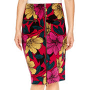 Worthington® High-Waist Zipper-Front Skirt - Tall