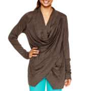 Xersion™ Long-Sleeve Wrap Cardigan - Tall