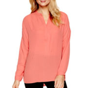 a.n.a® Long-Sleeve Embellished Blouse