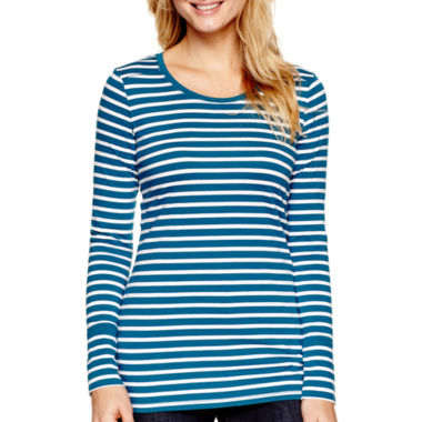 jcpenney.com | a.n.a® Essential Long-Sleeve T-Shirt