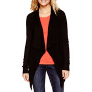 a.n.a® Long-Sleeve Flyaway Cardigan with Pockets
