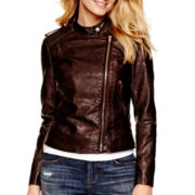 a.n.a® Asymmetrical Faux-Leather Jacket