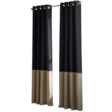 jcpenney.com | Kendall Lined Colorblock Grommet-Top Curtain Panel