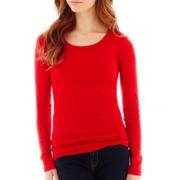 Stylus™ Long-Sleeve Crewneck T-Shirt- Petite