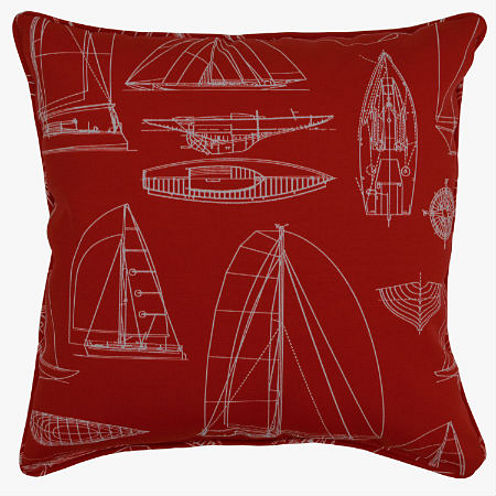 Sailing Square Corded Outdoor Pillow