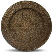 Round Rattan Set of 4 Chargers