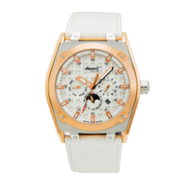 jcpenney.com | Ingersoll® Mandan Mens Rose-Tone White Strap Watch