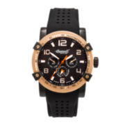 Ingersoll® Mescalero Mens Black & Gold-Tone Sport Watch