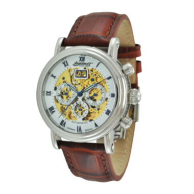 jcpenney.com | Ingersoll® Gandhi Mens Automatic Strap Skeleton Watch