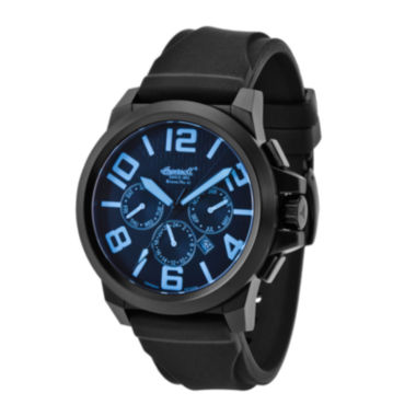 jcpenney.com | Ingersoll® Bison Mens Black Silicone Strap Automatic Watch