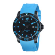 Swiss Eagle® Sea Bridge Mens 20ATM Black & Blue Watch