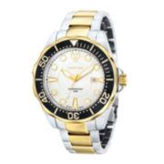 Swiss Eagle® Ballast Mens 20ATM Two-Tone Round Bracelet Watch