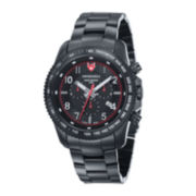 Swiss Eagle® Landmaster Mens Black Chronograph Watch