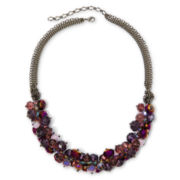 Purple Glass Bead Chunky Necklace