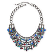 Multicolor Glass Bead 3-Row Necklace