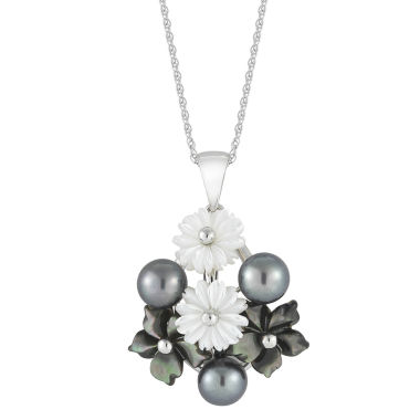 jcpenney.com | Black Cultured Freshwater Pearl & Mother-of-Pearl Pendant Necklace