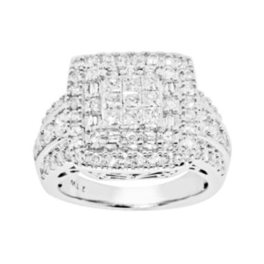 jcpenney.com | 2 CT. T.W. Diamond Square-Center Engagement Ring