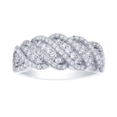 jcpenney.com | ¾ CT. T.W. Diamond Sterling Silver Twist Ring