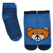 Okie Dokie® 2-pk. Bear Socks - Boys