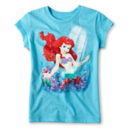 Disney Ariel Watery Blur Graphic Tee - Girls 2-10