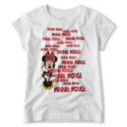 Disney Red Minnie Foil Graphic Tee - Girls 2-10