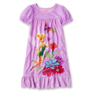 Disney Tinker Bell Nightgown- Girls 2-10