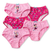 Disney Collection Pink Minnie Mouse 5-pk. Panties - Girls 2-8