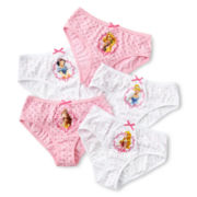 Disney Collection Princess 5-pk. Panties - Girls 2-8