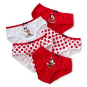 Disney Collection Red Minnie Mouse 5-pk. Panties - Girls 2-8