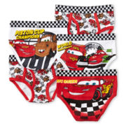Disney Collection Cars 5-pk. Briefs - Boys 2-8