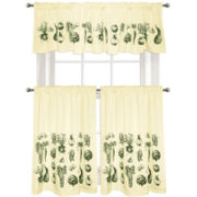 Vintage Veggies Kitchen Curtains