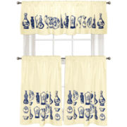Colordrift Antique Vases Kitchen Curtains