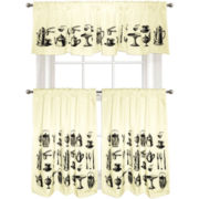 Colordrift Tea Time Kitchen Curtains