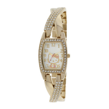 jcpenney.com | Hello Kitty® Womens Gold-Tone Bracelet Watch