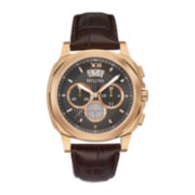Bulova® Mens Brown Leather Strap Chronograph Watch