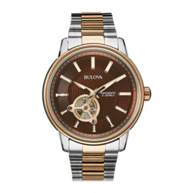 jcpenney.com | Bulova® Mens Two-Tone Stainless Steel Automatic Watch 98A140