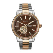 Bulova® Mens Two-Tone Stainless Steel Automatic Watch