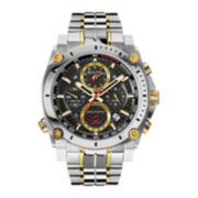 Bulova® Precisionist Mens Two-Tone Stainless Steel Chronograph Watch