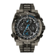 Bulova® Precisionist Mens Gray Stainless Steel Chronograph Watch