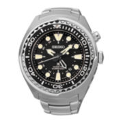 Seiko® Prospex Kinetic GMT Diver Mens Stainless Steel Watch SUN019
