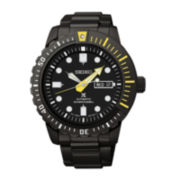 Seiko® Prospex Automatic Diver Mens Black Stainless Steel Watch SRP633