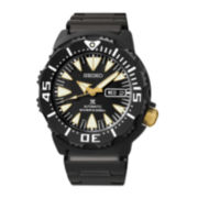 Seiko® Prospex Automatic Diver Mens Black Stainless Steel Watch SRP583