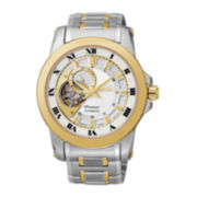 Seiko® Premier Automatic Mens Two-Tone Stainless Steel Watch SSA216